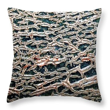 Facade Throw Pillow by Danielle R T Haney
