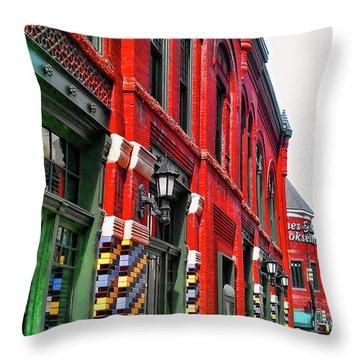 Facade Of Color Throw Pillow