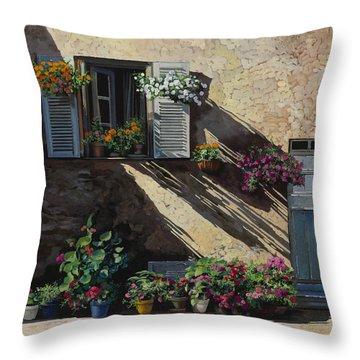 Facciata In Ombra Throw Pillow by Guido Borelli