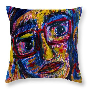 Face 11 Throw Pillow by Natalie Holland