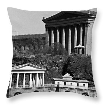 Face Facade Throw Pillow
