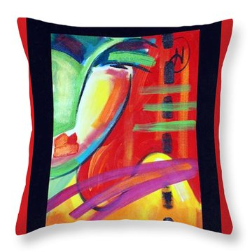 Face Throw Pillow by Heather Roddy