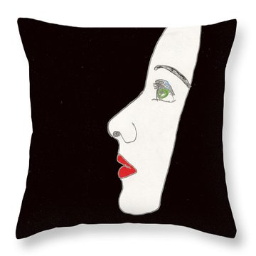 Face In Profile Throw Pillow