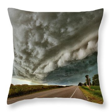 Face In The Storm Throw Pillow