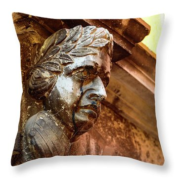 Face In The Streets - Rovinj, Croatia Throw Pillow