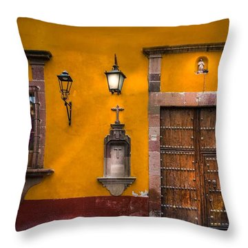 Face In The Window Throw Pillow