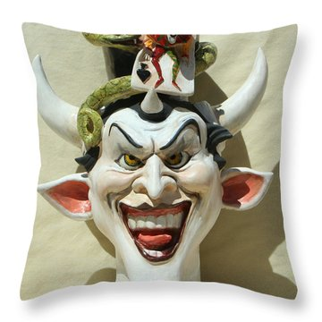 Face Jug Jokula Throw Pillow