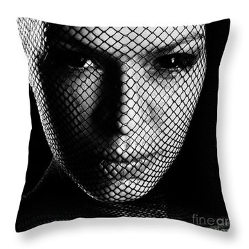 Face Lacemasked #4719 Throw Pillow