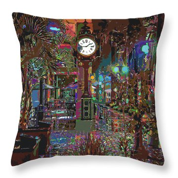 Face Of Color Throw Pillow
