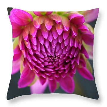 Face Of Dahlia Throw Pillow