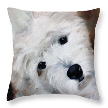 Face Of Endearment Throw Pillow by Mary Sparrow