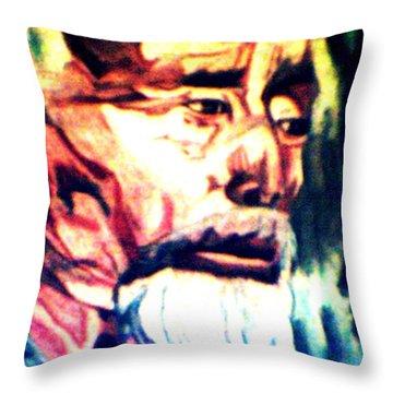Face Of Strength  Throw Pillow by Jo-Ann Hayden
