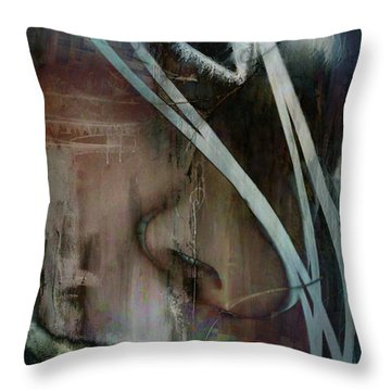 Throw Pillow featuring the digital art Face Pop by Greg Sharpe