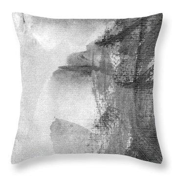 Face Throw Pillow by Skip Nall