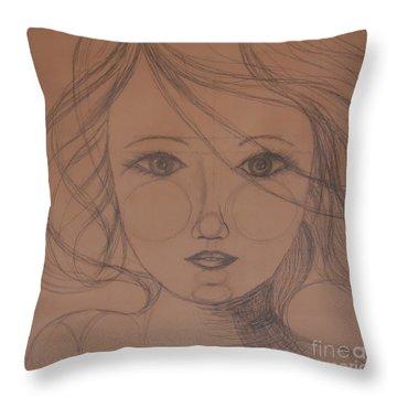 Face Study Throw Pillow
