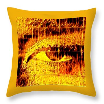 Face The Fire Throw Pillow