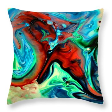 Throw Pillow featuring the painting Face To Face by Joyce Dickens