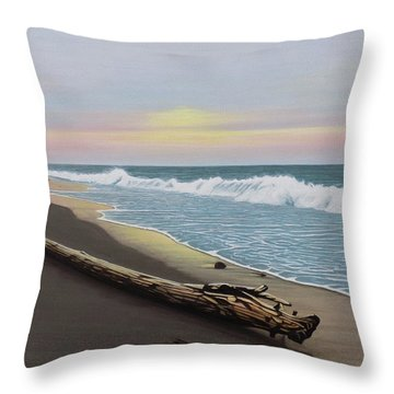 Face To The Morning Throw Pillow