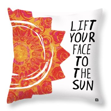 Throw Pillow featuring the painting Face To The Sun by Lisa Weedn