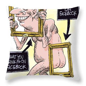 Facebook Privacy Throw Pillow