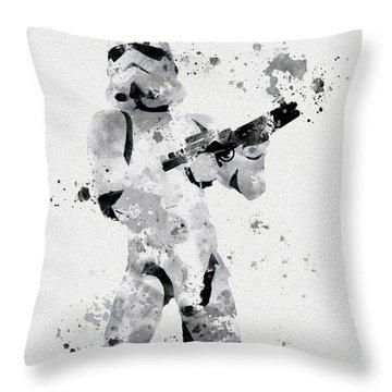 Faceless Enforcer Throw Pillow