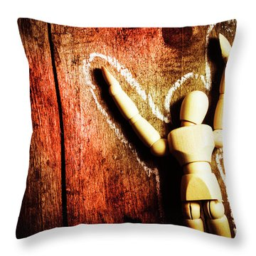 Faceless Victim Throw Pillow