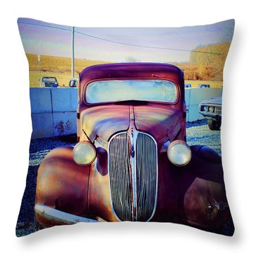 Facelift Wanted Car Throw Pillow