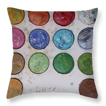 Facepaint Throw Pillow by Anna Villarreal Garbis