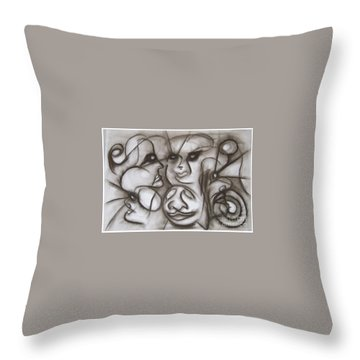 Faces And Places Throw Pillow
