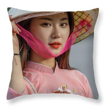Faces Of Hoian - 04 Throw Pillow