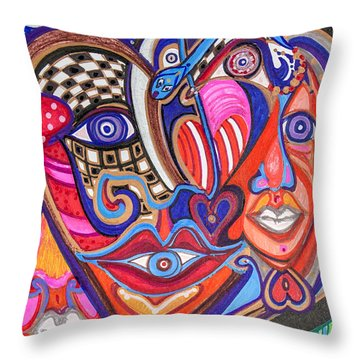 Faces Of Hope Throw Pillow