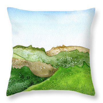 Facescape 1 Throw Pillow