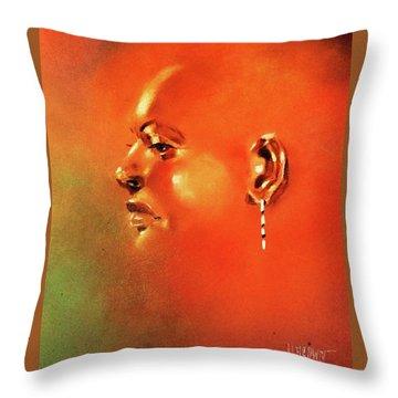 Facial Vignette In Profile Throw Pillow