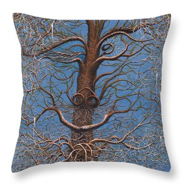 Facing A Frosty Sunset 2010 Throw Pillow