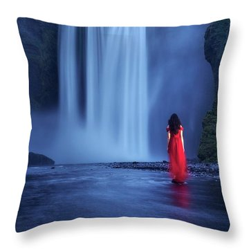 Throw Pillow featuring the photograph Facing Fear Head-on by Peter Thoeny