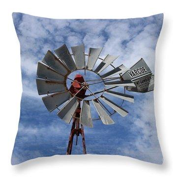 Facing Into The Breeze Throw Pillow