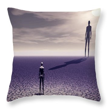 Facing The Future Throw Pillow