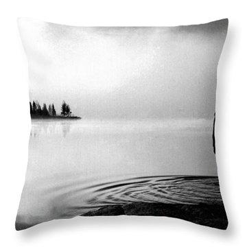Throw Pillow featuring the photograph Facing The Island by Wayne King