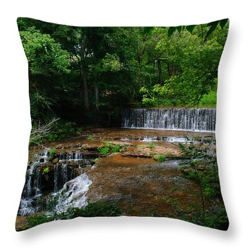 Factory Branch Throw Pillow