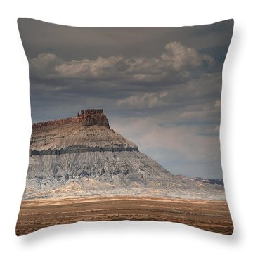 Throw Pillow featuring the photograph Factory Butte by Dan Mihai