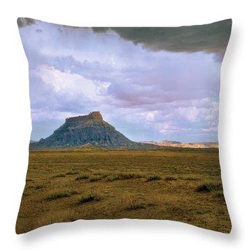 Factory Butte Throw Pillow
