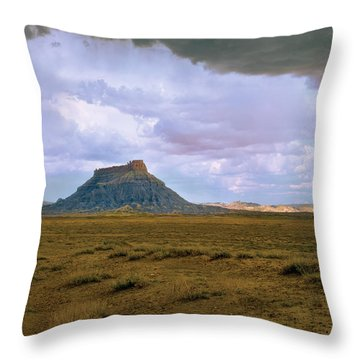 Factory Butte Throw Pillow