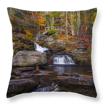 Throw Pillow featuring the photograph Factory Falls by Mark Papke
