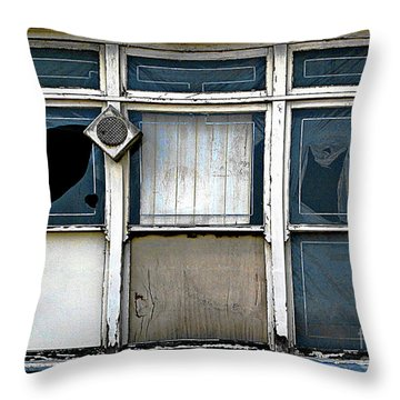 Factory Windows Throw Pillow
