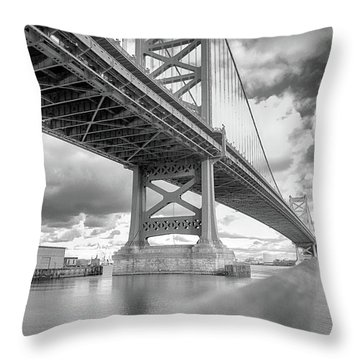 Fade To Bridge Throw Pillow
