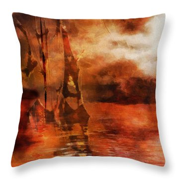 Fade To Red Throw Pillow
