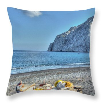 Faded Beauty Throw Pillow by Michael Garyet