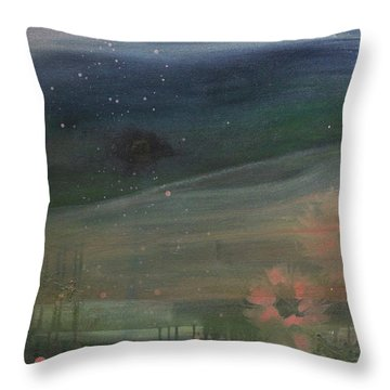 Throw Pillow featuring the painting Faded Days Gone By by Robin Maria Pedrero