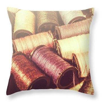 Faded Dressmaking Details Throw Pillow