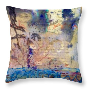 Faded Fantasies 1 Throw Pillow